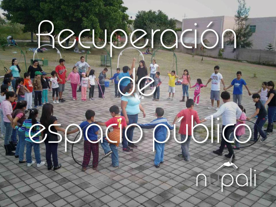 Recuperación de espacio público.